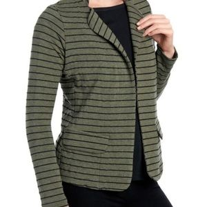 Anthropologie Dolan Green Striped Blazer